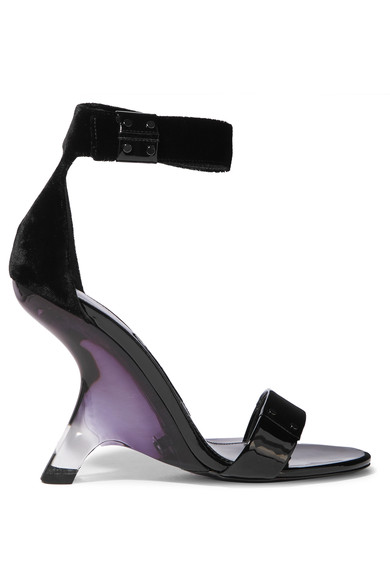 8a3ff77940 Love those patent-leather and velvet sandals by Tom Ford